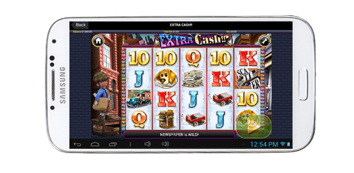 android slot being played on mobile casino