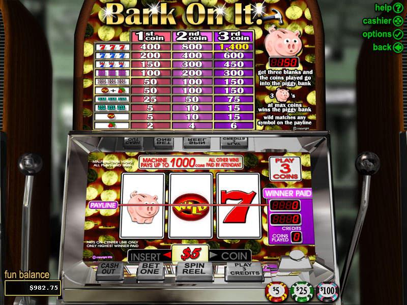 bank on it slots