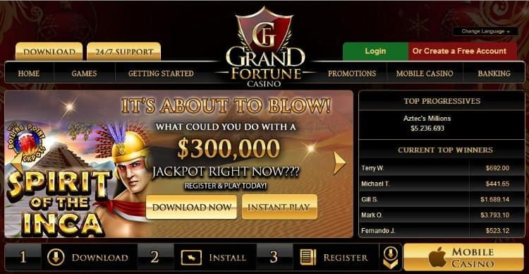 grand fortune casino home