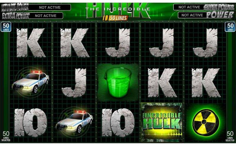 hulk 50 payline slot