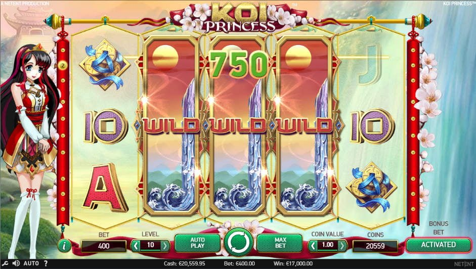 Koi Princess Slot - Royal Cash Back Bonus | PlayOJO