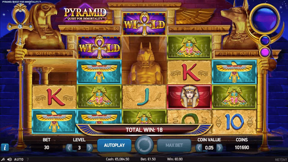 Pelaa Pyramid: Quest for Immortality - NetEnt Casino