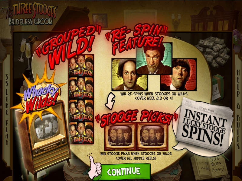 The Three Stooges Brideless Groom Slot - Play it Now