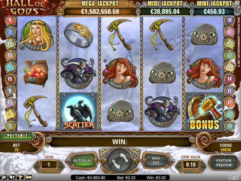 Hall of Gods Slot - Spela Hall of Gods Slot Gratis
