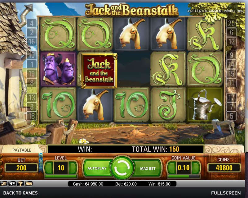 Jack and the Beanstalk Slot - Climb to Riches | PlayOJO