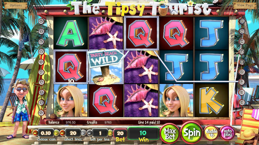 The Tipsy Tourist Slot - Play Free Casino Slots Online