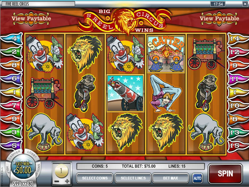Play free slot machine games with 5 reels!