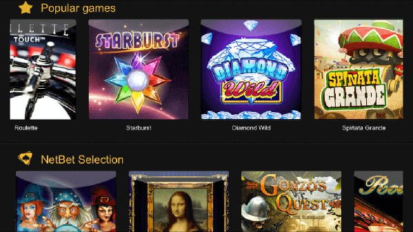 netbet casino games