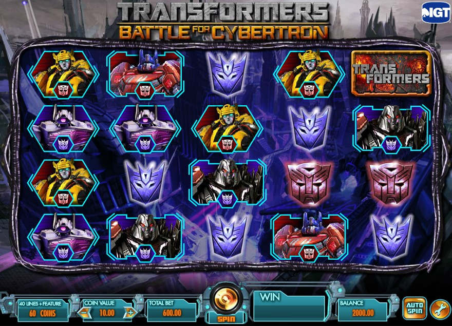 transformers battle cybertron slot