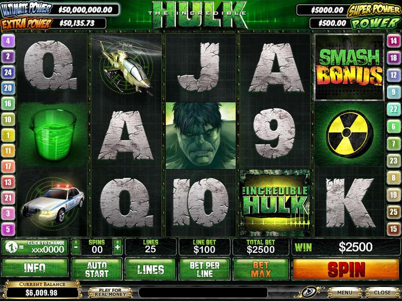 Slot Machine Hulk