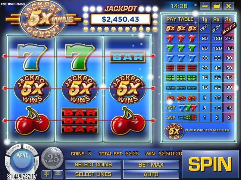 Jackpot 5X Wins slot