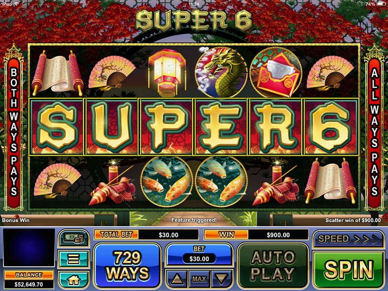 super 6 slot real time gaming