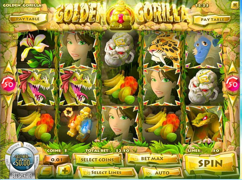 Golden Gorilla slot Rival