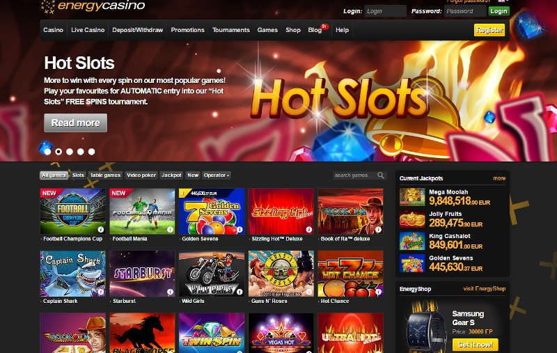 energycasino home page