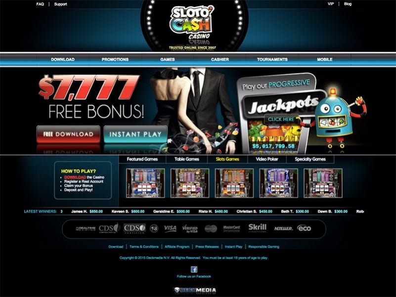 sloto cash home page