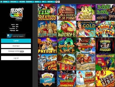online casino cash kazino games