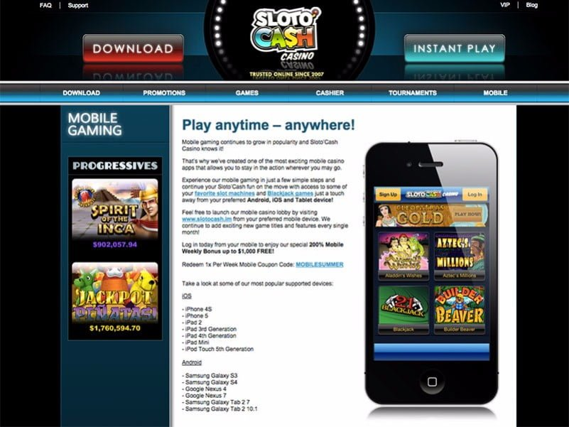 sloto cash casino sign up