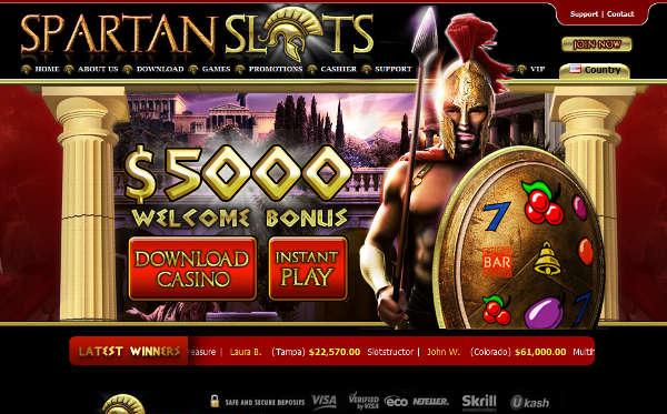spartan slots home