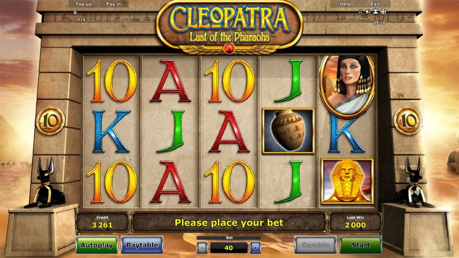 Cleopatra last of the pharaohs slot