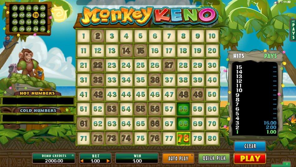 Monkey Keno Slot