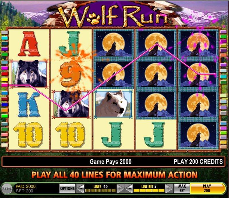 Casino Slots Wolf Run