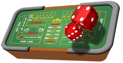 craps casino table game