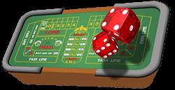 craps casino table game