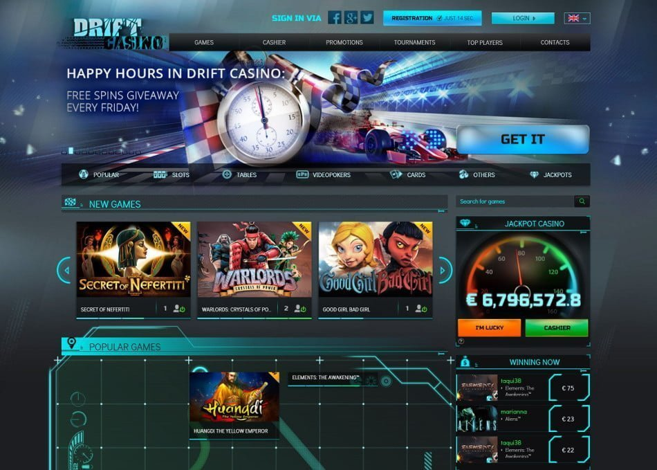 drift casino бонус 1000