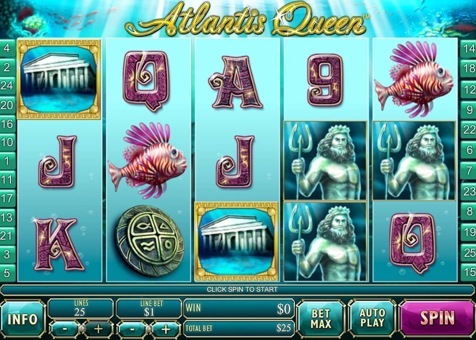Play Atlantis Queen online slots at Casino.com