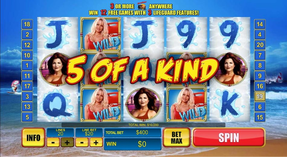 Play Baywatch Slot at Casino.com UK