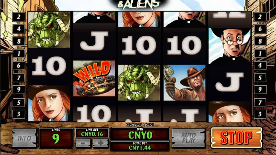 Play Cowboys and Aliens online Slots at Casino.com