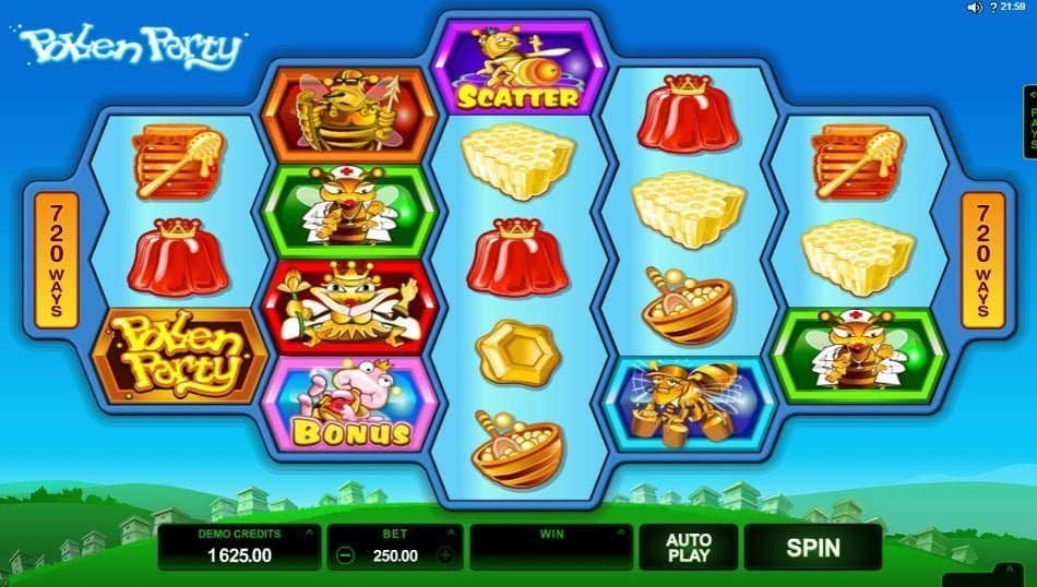 pollen party microgaming slot
