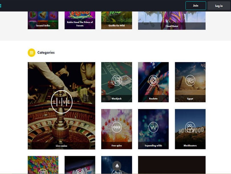 dunder live casino table games