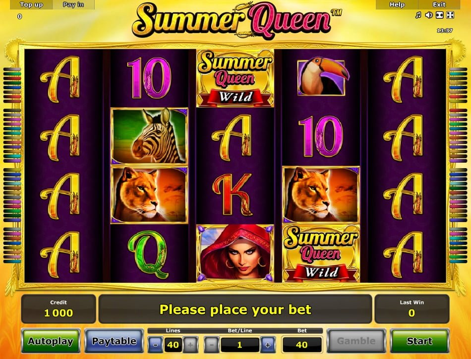 summer queen novomatic slot