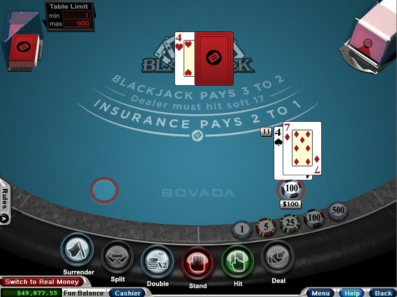 bovada blackjack