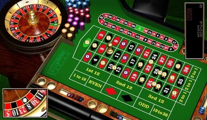 online roulette game being played live