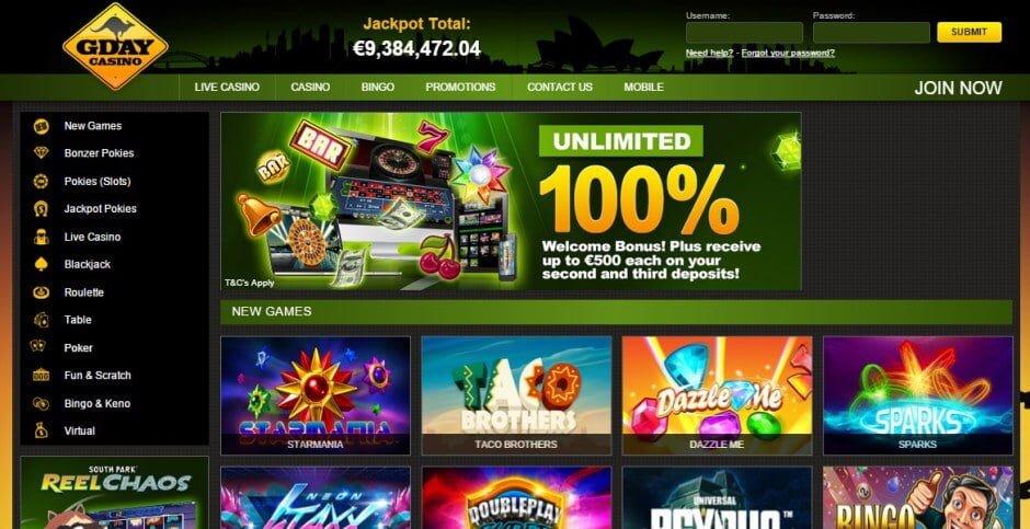 online casino g day