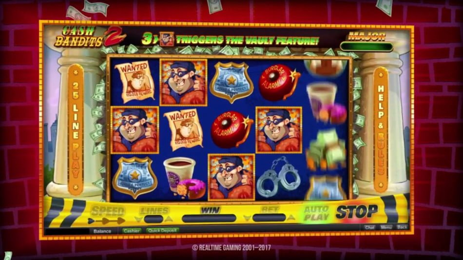 cash bandits two slot