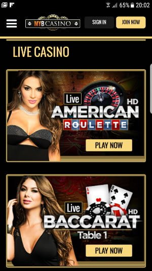 myb casino mobile games