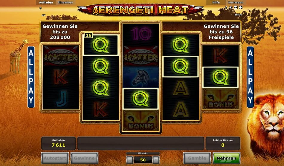 Serengeti Heat Slot