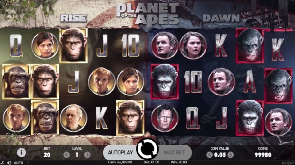 Image result for Planet of the Apes slot machine