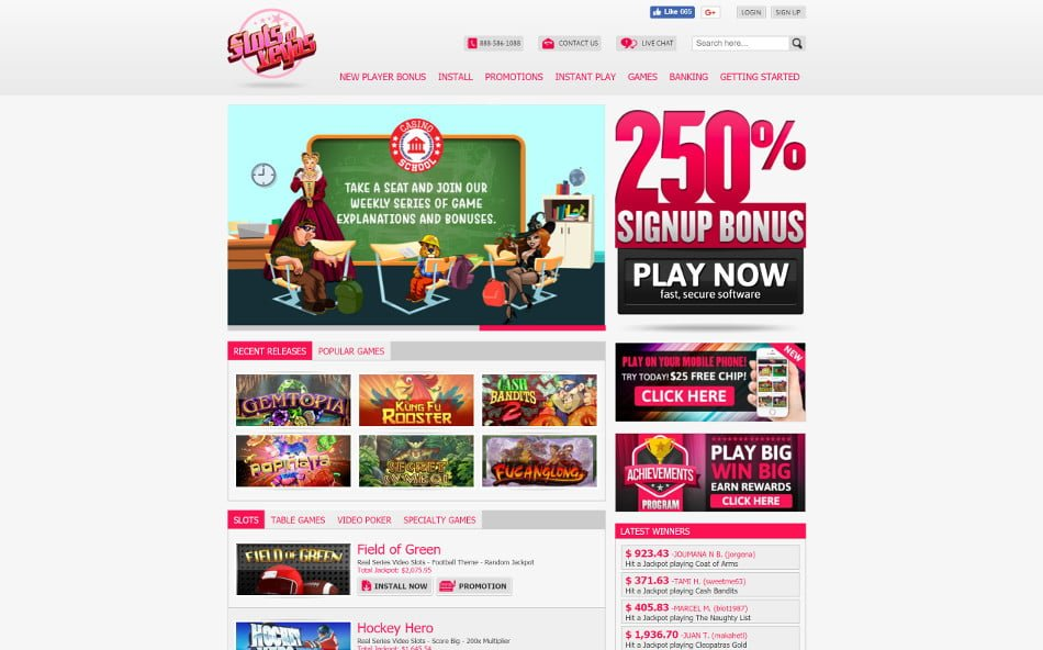 slots of vegas home page