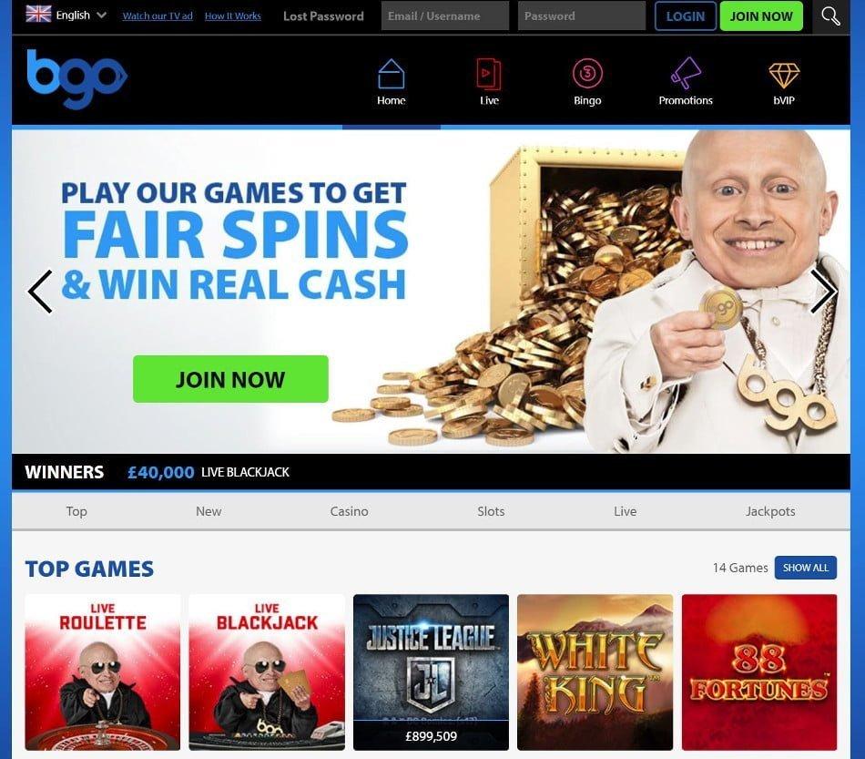bgo casino home page