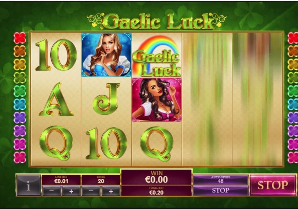 gaelic luck slot by playtech