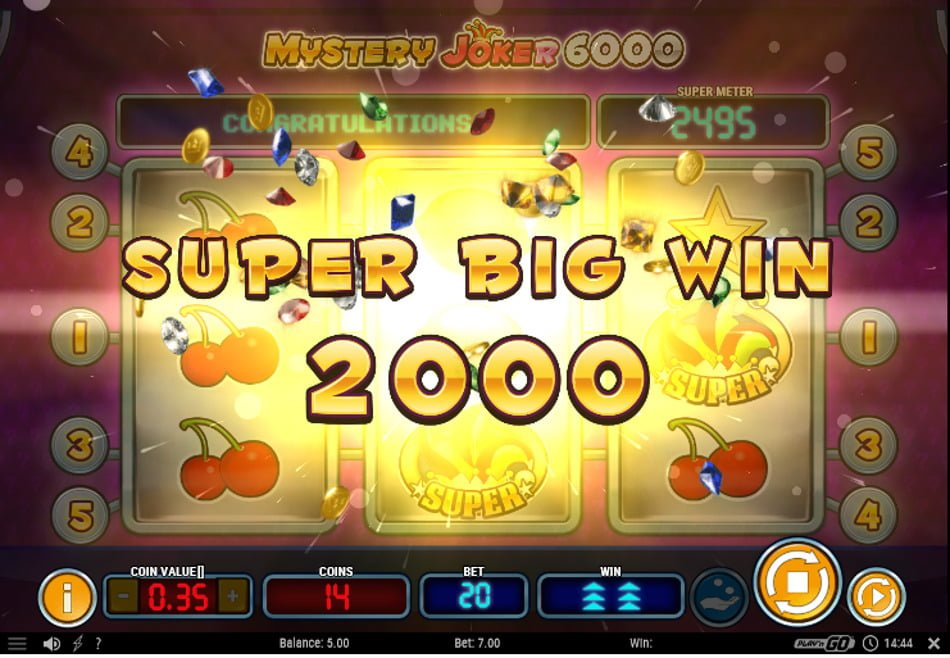 mystery joker 6000 video slot by play n go
