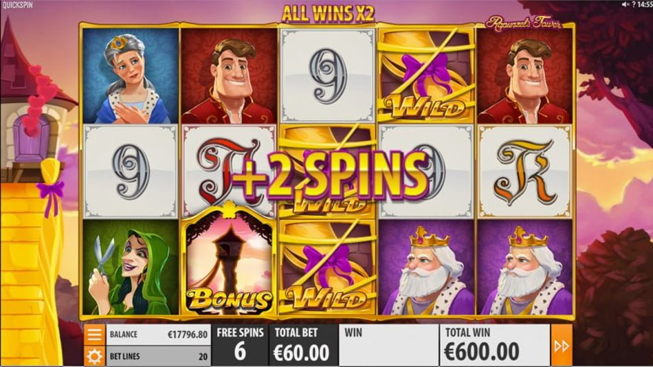 rapunzels tower video slot by quickspin