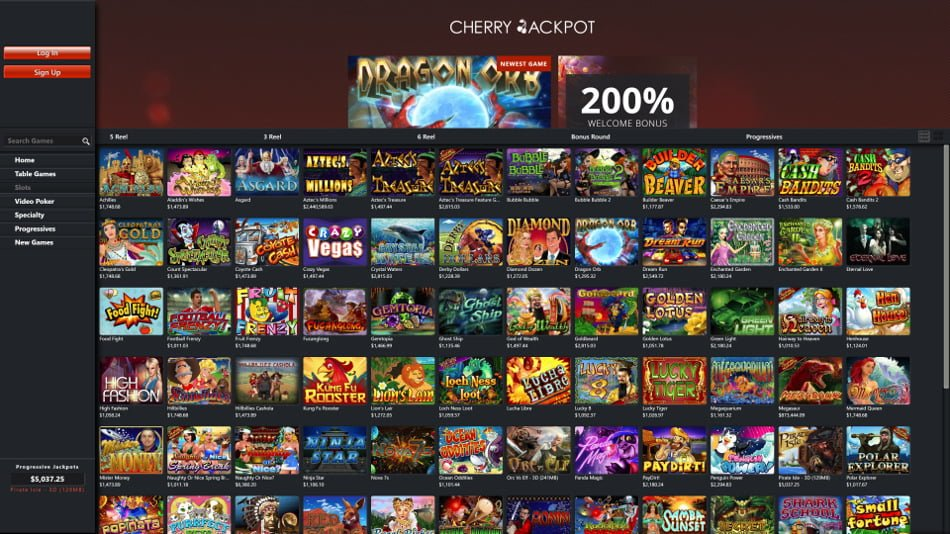 cherry jackpot mobile casino