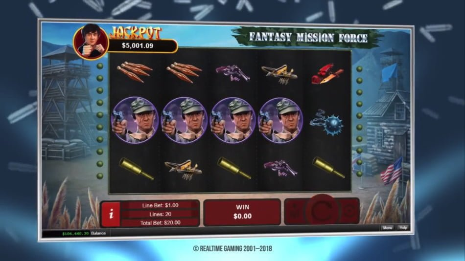 fantasy mission force slot by rtg