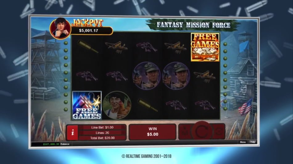 fantasy mission force slot by realtime gaming