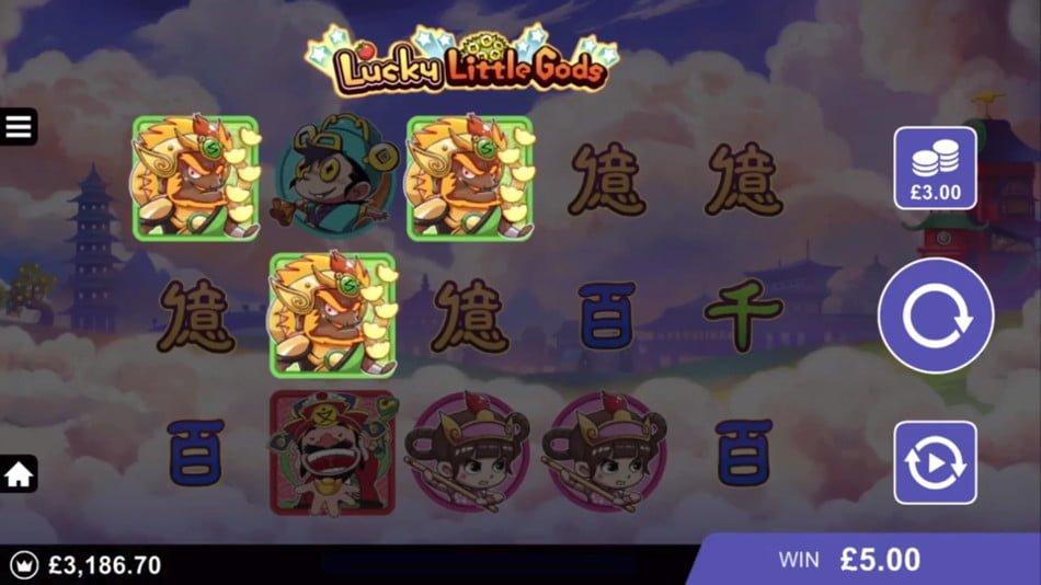 lucky little gods slot in play